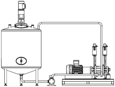 Example of installation of the ROTOCAV hydrodynamic cavitator in an extraction plant