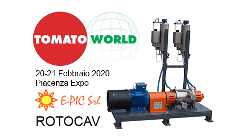 E-PIC S.r.l. at Tomato World - Piacenza Expo, 20th-21st February, 2020