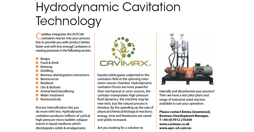 Cavimax and ROTOCAV on Industrial process news magazine