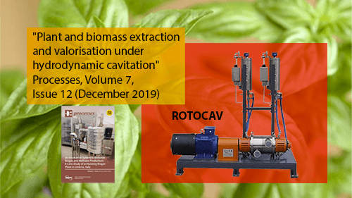 Extraction of polyphenols from basil using water with ROTOCAV cavitator