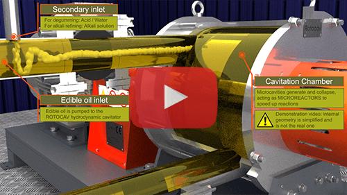 ROTOCAV: cavitatore idrodinamico per gli oli alimentari - Degommaggio, neutralizzazione, decolorazione